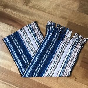 Knit scarf, Missoni brand, 50/50 acrylic/wool